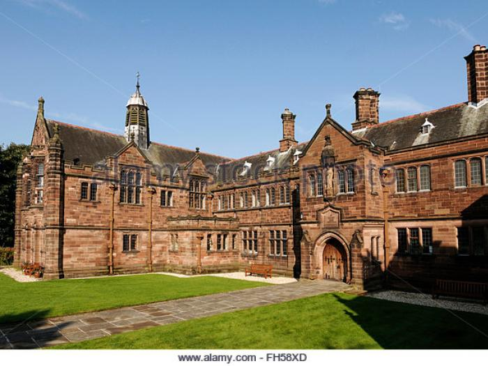 The entrance of gladstones library in hawarden north wales